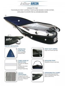 Ocean & Earth Shortboard Aircon Surfboard cover with handle ad shoulder strap 5mm thick