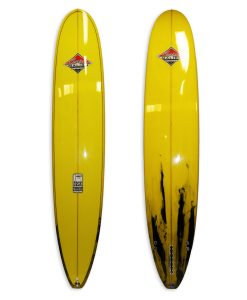 4567 Model Allrounder Longboard # 8651. Yellow andblack resin tints 2+1 fin setup.
