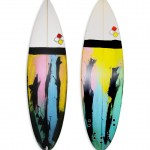 NIC 5 fin round tail #8614. High performance short board with resin tints.