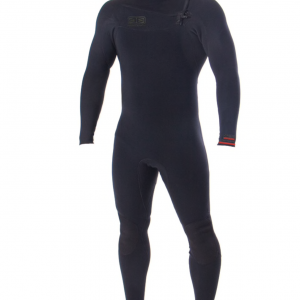 Wetsuit Ocean & Earth Mens Double Black Steamer Chest Zip 3/2mm