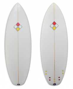 MT-3 performance short board smaller for the kids with white foam spray