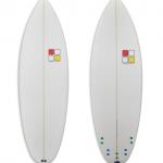Turtle Shortboard Kids Model white foam spray with coloured plugs