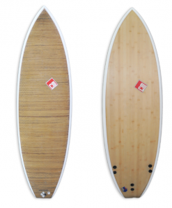 Abaca and Bamboo Shortboard with EPS core and epoxy glassing