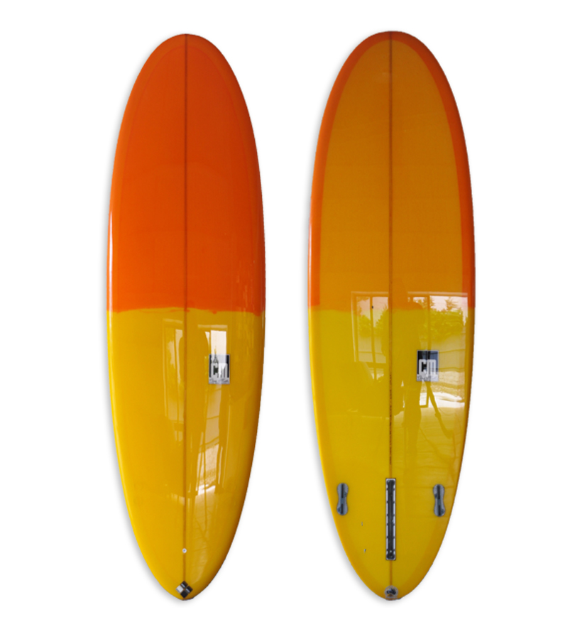 Orange & Yellow Tinted Egg style funboard