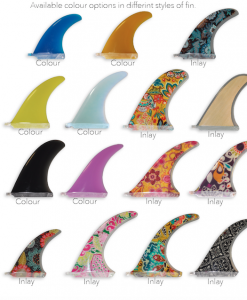 Available fin inlays & colour options