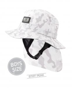 Boys Indo Stiff Peak Surf Hat - Camo