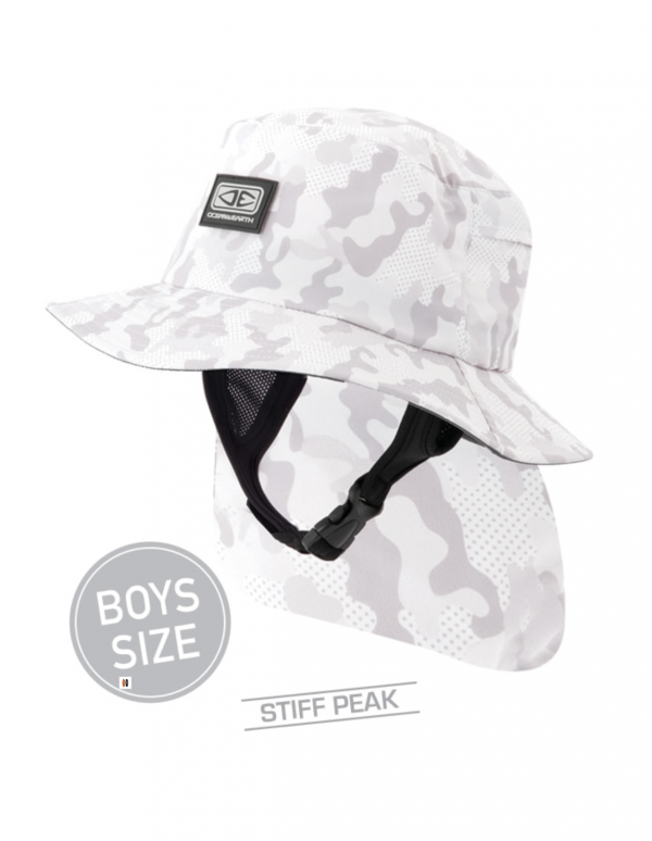 Boys Indo Stiff Peak Surf Hat – Camo