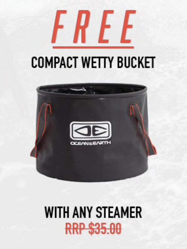 Free Compact Wetty Bucket with Any Steamer