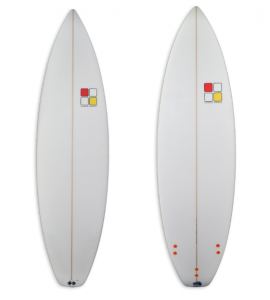 Nic-Off 1 performance short board with white spray