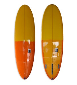Egg mid length fun board with Orange & Yellow Tint Polish