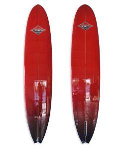 Red Polished Performance Longboard
