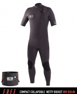 Wetsuit Ocean & Earth Mens Zero Zip Short Arm Steamer - 2/2mm