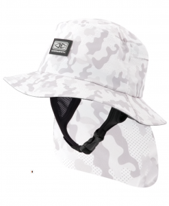 Mens Indo Stiff Peak Surf Hat - Camo