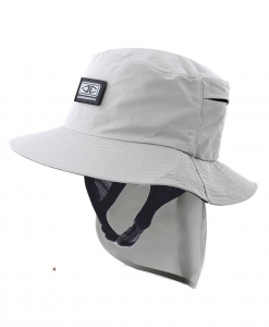 Mens Indo Stiff Peak Surf Hat - Grey