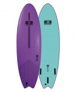 "Classic Malibu - 6'6"" Mauve Softboard Ezi rider"