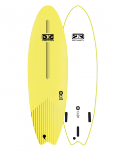 "Classic Malibu - 6'6"" Lime Softboard Ezi rider"