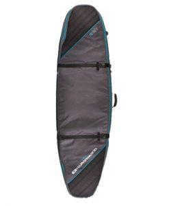Classic Malibu - Double Coffin Shortboard: Fish Cover SCSB05 Black:Blue