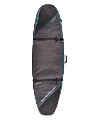 Classic Malibu - Double Coffin Shortboard: Fish Cover SCSB05 Black:Blue