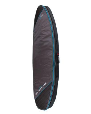 Classic Malibu - Double Compact Shortboard Cover Black-Blue