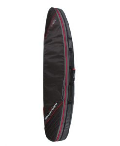Classic Malibu - Double Compact Shortboard Cover Black:Red