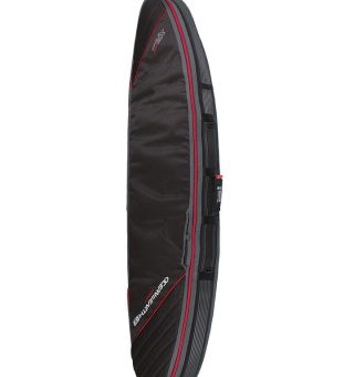 Double Compact Shortboard Cover Black:Red